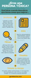 infografia sobre como dejar de ser toxico en 5 pasos